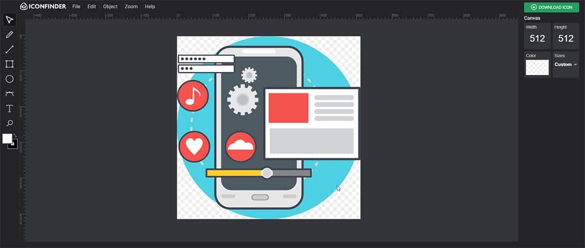 2dition icône pro sur IconFinder